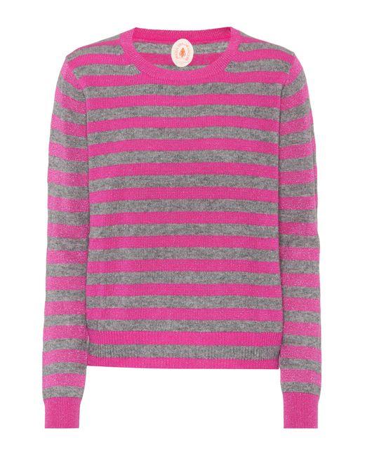 Jardin Des Orangers | Pink Striped Wool And Cashmere Sweater | Lyst