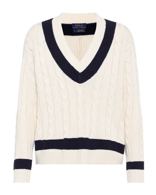 Polo Ralph Lauren | White Cable-knit Sweater | Lyst