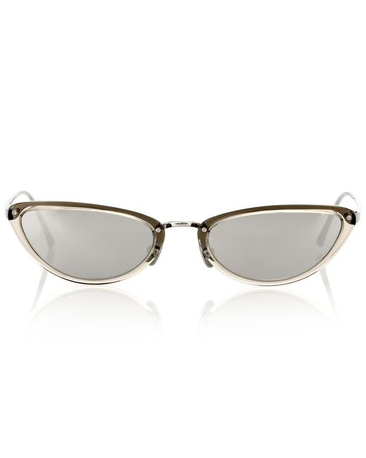 Linda Farrow - Metallic 709 C7 Cat-eye Sunglasses - Lyst