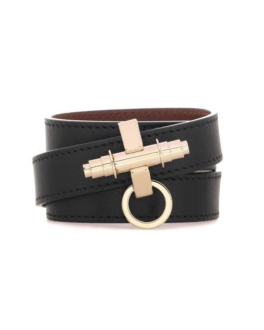 Givenchy | Black 3 Row Obsedia Leather Bracelet | Lyst