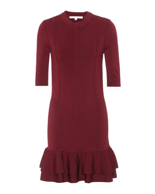 Veronica Beard - Red Aubrey Knit Midi Dress - Lyst