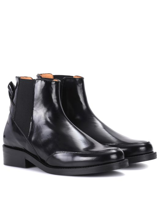 Ganni - Black Violet Leather Chelsea Boots - Lyst