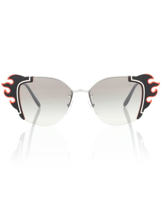 Prada - Gray Flame Sunglasses - Lyst