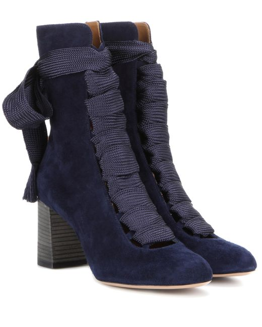 Chloé - Blue Chloé 'harper' Ankle Boots - Lyst