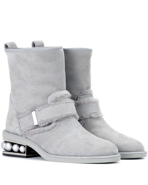 Nicholas Kirkwood - Gray Casati Suede Ankle Boots - Lyst