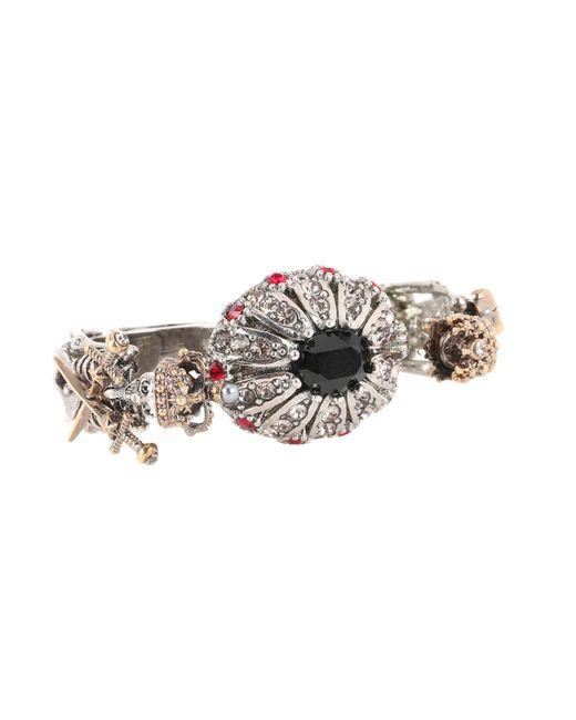 Alexander McQueen - Metallic Queen & King Multi-finger Ring - Lyst