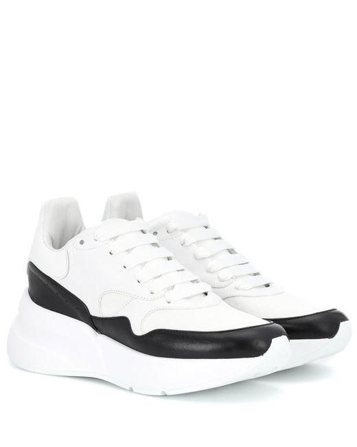 Alexander McQueen - White Leather Platform Sneakers - Lyst