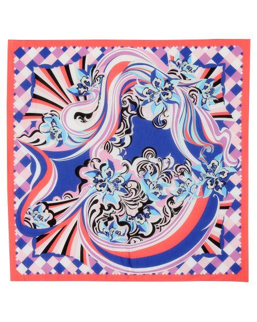 Emilio Pucci - Blue Sarong de algodón estampado - Lyst