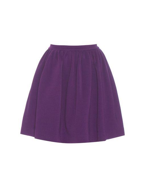 Miu Miu   Purple Ribbed Miniskirt   Lyst