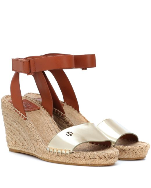 08d85ffedf6 Tory Burch - Multicolor Bima Leather Wedge Espadrilles - Lyst ...