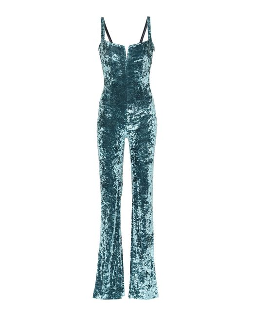 Galvan - Blue Solstice Velvet Jumpsuit - Lyst