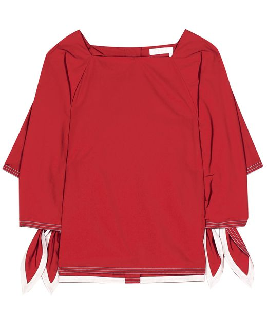 Chloé - Red Cotton Blouse - Lyst