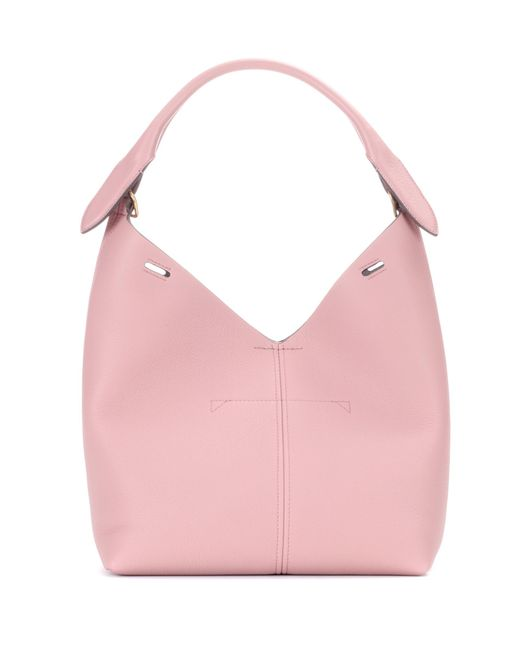 Anya Hindmarch - Pink Small Bucket Leather Shoulder Bag - Lyst