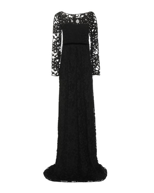 Burberry - Black Embroidered Cotton-blend Tulle Gown - Lyst