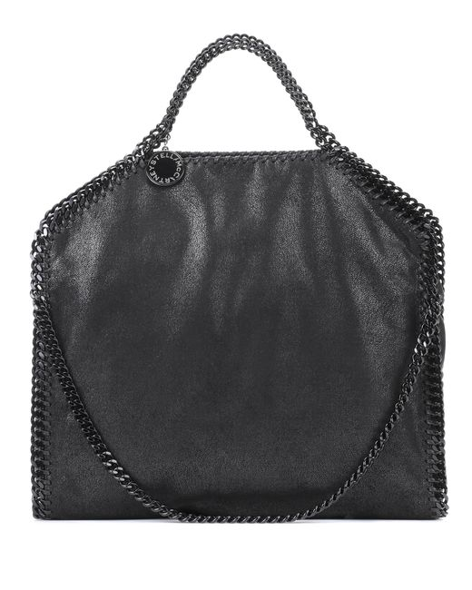 Stella McCartney - Black Falabella Fold Over Shoulder Bag - Lyst