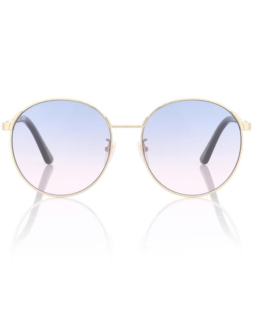 757e683920d Gucci - Metallic Exclusive To Mytheresa – Round Sunglasses - Lyst ...