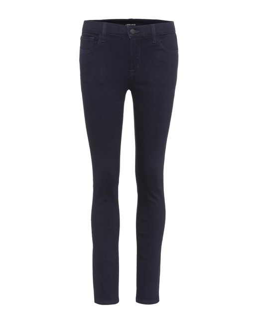 J Brand - Blue Mid-rise Skinny Jeans - Lyst