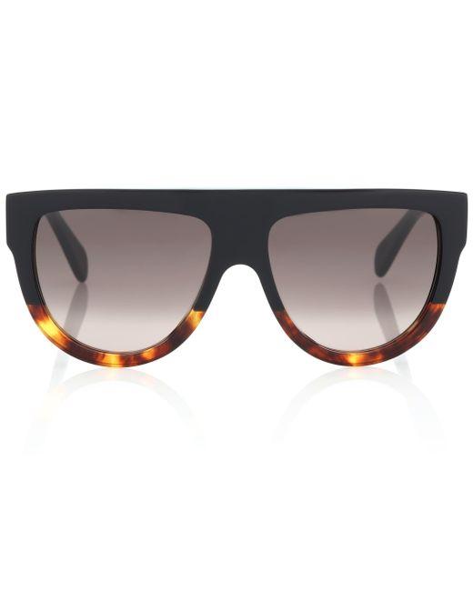 Céline - Black Aviator Acetate Sunglasses - Lyst