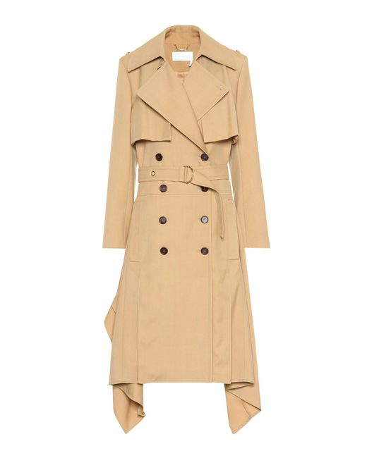 Chloé - Natural Wool Trench Coat - Lyst