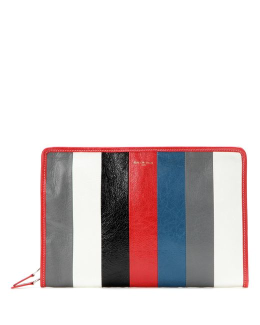 Balenciaga - Red Bazar Leather Clutch - Lyst