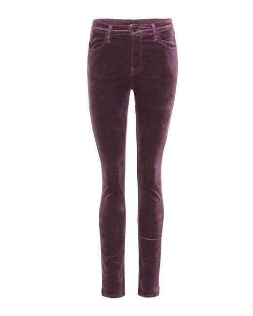 J Brand - Purple Maria High-rise Skinny Jeans - Lyst