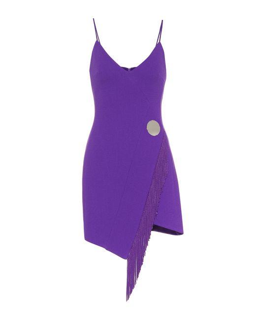 David Koma - Purple Stretch Wool-blend Minidress - Lyst
