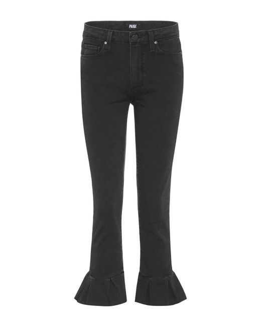 PAIGE - Black Jeans Rafaela mit Volants - Lyst