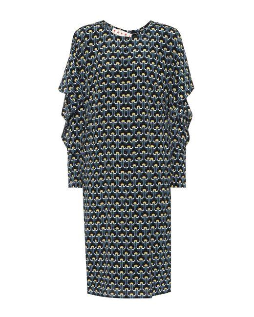 Marni - Multicolor Printed Silk Dress - Lyst