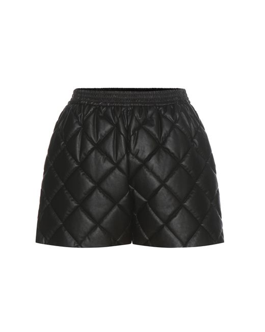 Stella McCartney - Black Cesira Quilted Faux Leather Shorts - Lyst