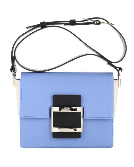 Roger Vivier - Blue Viv Mini Leather Shoulder Bag - Lyst