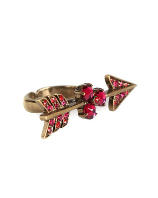 Valentino | Pink Arrow Crystal-embellished Ring | Lyst