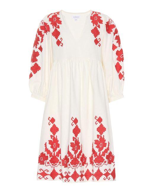 Velvet - White Jora Cotton And Linen Dress - Lyst
