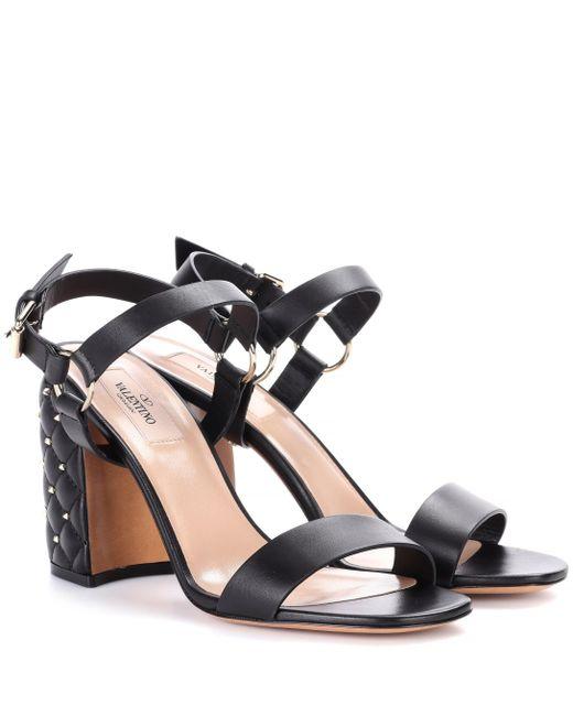 Valentino - Black Free Rockstud Spike Leather Sandals - Lyst