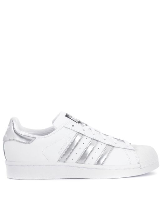 a3848f7092d5 Lyst - adidas Originals Superstar Leather Sneakers in White - Save ...