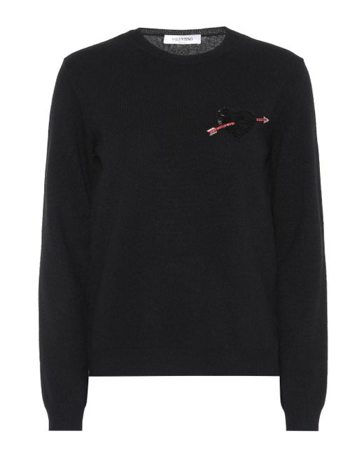 Valentino - Black Virgin Wool And Cashmere Sweater - Lyst