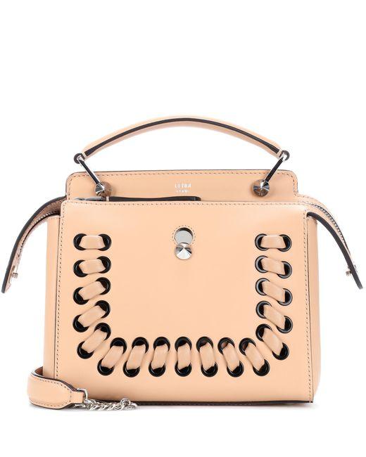 Fendi   Natural Dotcom Leather Shoulder Bag   Lyst