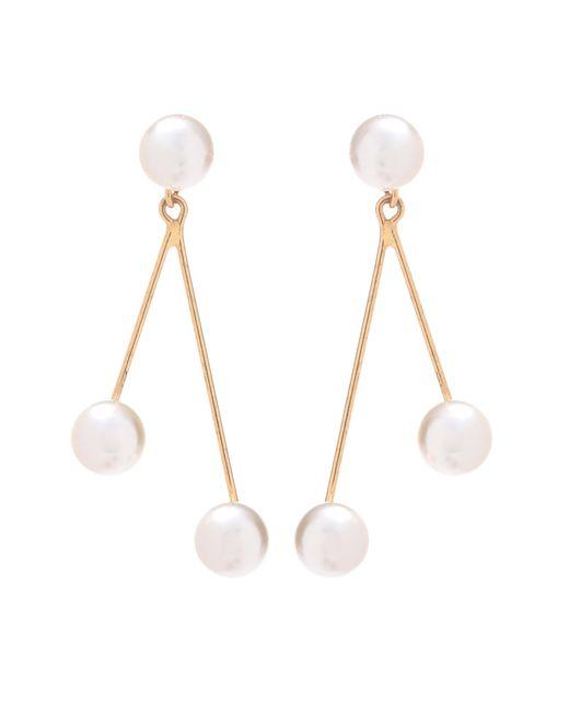 Jennifer Behr - Metallic Pearl Droplet Earrings - Lyst