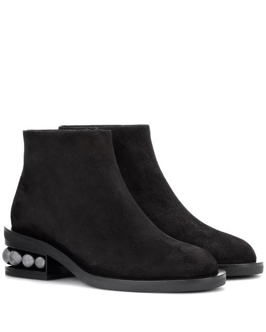 Nicholas Kirkwood | Black Casati Suede Ankle Boots | Lyst