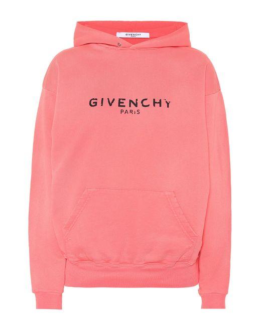 Givenchy - Pink Blurred Paris Print Hoodie - Lyst