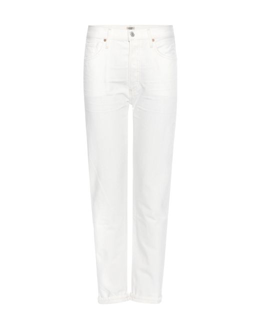 Citizens of Humanity - White Liya High-rise Cropped Jeans - Lyst