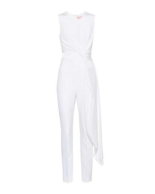 ebe000d496e Lyst - Roksanda Crêpe Jumpsuit in White
