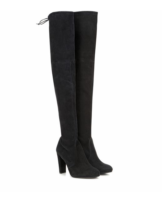 f63d67aeee7 Women's Black Highland Suede Over-the-knee Boots