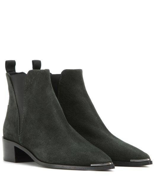 Acne | Black Dark Navy Jensen Hairy Ankle Boot | Lyst