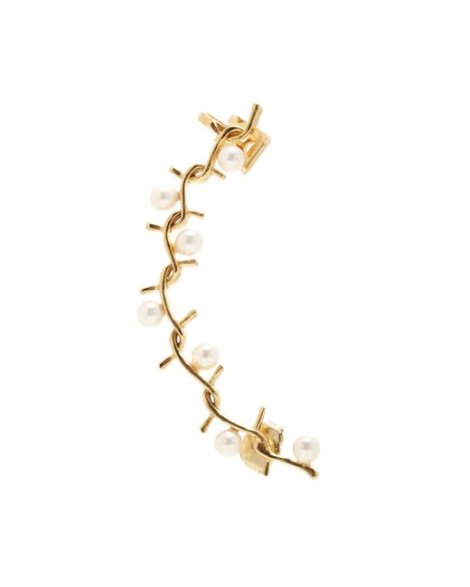 Joanna Laura Constantine | Metallic Gold-plated Ear Cuff With Pearls | Lyst