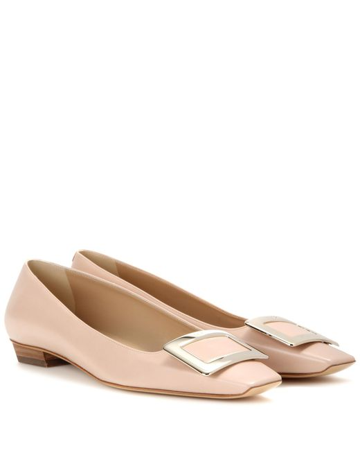 Roger Vivier | Natural Belle Vivier Patent Leather Ballerinas | Lyst
