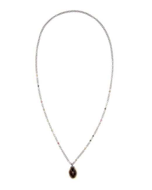 Bottega Veneta | Metallic Oxidised-silver And Gold-plated Long Necklace | Lyst