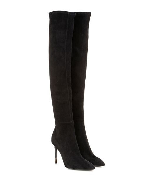 tom ford suede knee high boots in black lyst