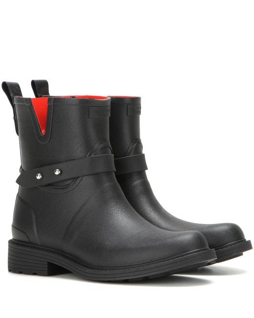 Rag & Bone   Red Moto Rain Boot Black Rubber   Lyst