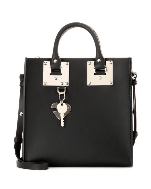 Sophie Hulme   Black Albion Square Leather Shoulder Bag   Lyst