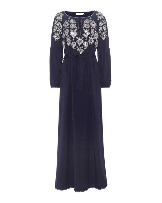 Tory Burch   Blue Lisette Embellished Dress   Lyst